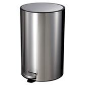 HomeZone 里德緩降踏式垃圾桶 20L 不鏽鋼色