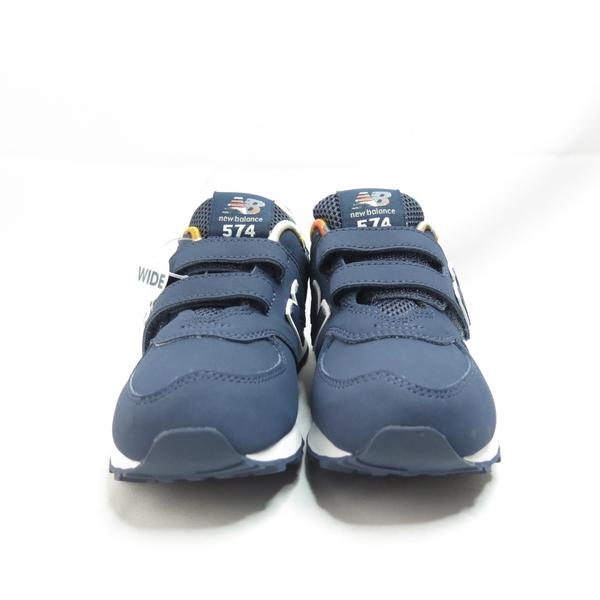 New Balance 中童 跑鞋 魔鬼氈 寬楦 YV574GYZ 藍【iSport愛運動】