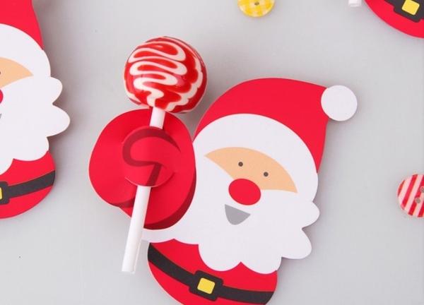 聖誕節diy棒棒糖裝飾紙卡(2款可挑,不含棒棒糖)-聖誕活動.禮贈品.聖誕禮物 交換禮物