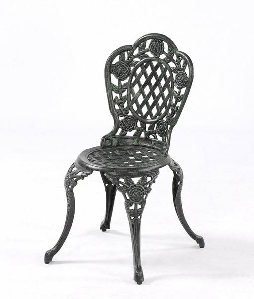 【南洋風休閒傢俱】戶外休閒桌椅系列-玫瑰鋁餐椅  戶外鋁合金餐椅 #124C