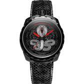 限量版 BOMBERG 炸彈錶 BOLT-68 COBRA眼鏡蛇機械錶-黑/45mm BS45APBA.043-1.3