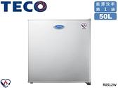 ↙0利率↙TECO 東元 50公升 2級能效 節能標章 環保冷媒 小鮮綠 單門小冰箱 R0512W【南霸天電器百貨】