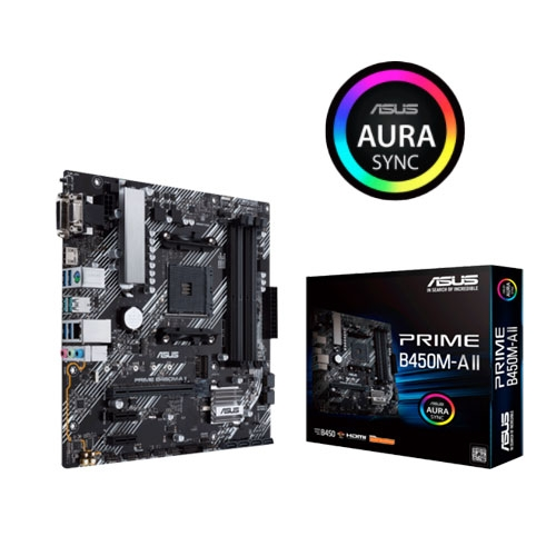 ASUS 華碩 PRIME B450M-A II M-ATX AM4腳位 主機板