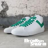 PONY 白綠 皮革 基本款 中筒 休閒鞋 男女款 (布魯克林) 63U1TS62GN