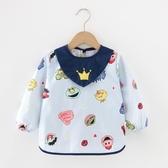 寶寶罩衣純棉男兒童長袖吃飯防水圍兜女秋冬飯兜嬰兒防臟反穿罩衣促銷好物