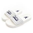 PLAYBOY美式熱情條紋休閒拖鞋-白(YT617)