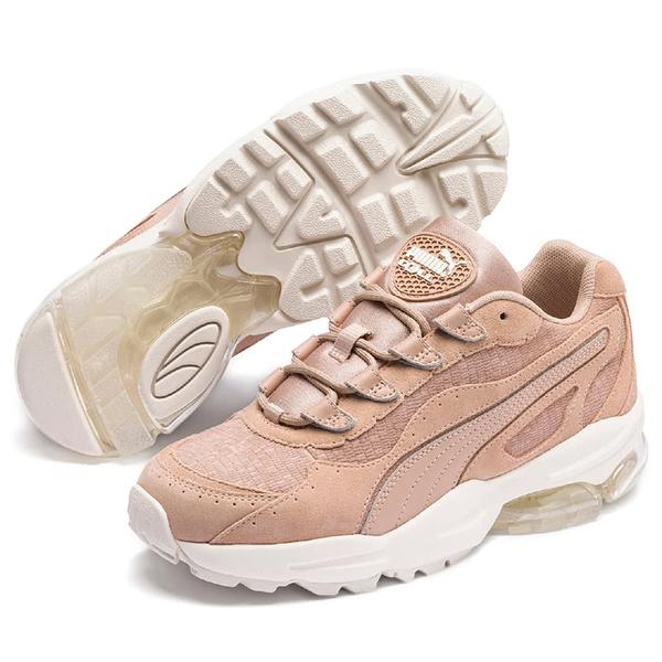 PUMA CELL STELLAR 女鞋 休閒 老爹鞋 氣墊 麂皮 玫瑰粉 【運動世界】37095102