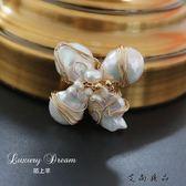 巴洛克珍珠氣質胸花