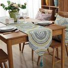 北歐餐廳桌旗餐桌布藝裝飾餐巾長條蓋布巾簡...