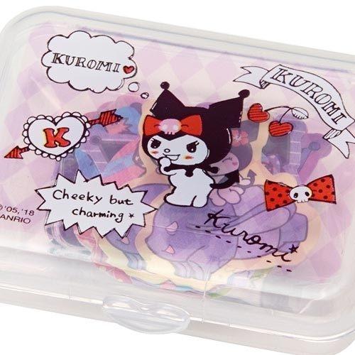 【震撼精品百貨】酷洛米_Kuromi~Sanrio 酷洛米散裝貼紙組附收納盒(40枚入)#87542