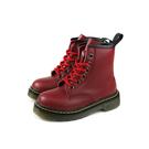 HABU 皮鞋 馬丁鞋 綁帶 紅色 童鞋 ZF01B-RD no025