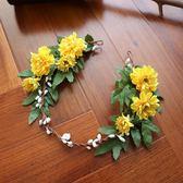 新娘森系韓式花環仙氣頭飾發箍雛菊婚紗寫真影樓攝影拍照配飾頭飾 享購