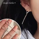 銀針耳環《可改耳夾式》韓女神款閃亮告時長款流蘇防過敏S925銀針耳針 (SRA0140) AngelNaNa