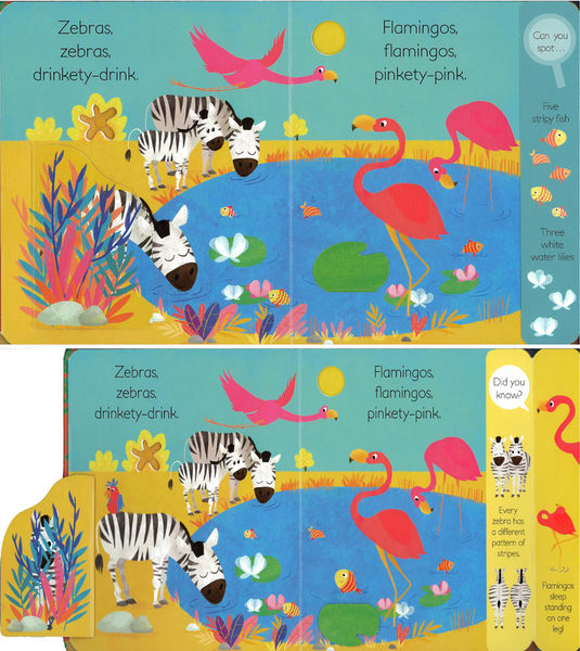 PEEK-THROUGH JUNGLE / 翻翻尋找書 《主題: 叢林.動物》