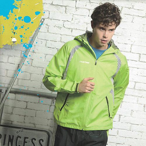 MILD STAR  男女平織網裡運動服連帽套裝[全套]-淺綠灰-JW705104+PW705207