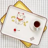 現貨 日式長方形飯店餐盤水杯茶托盤創意簡約家用果盤置物盤 【全館免運】