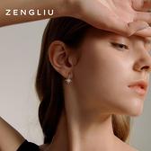 耳釘女八芒星款氣質耳環小巧耳飾品【聚寶屋】