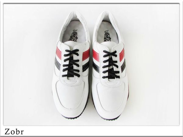 『雙惠鞋櫃』★路豹Zobr★台灣製造★ 綁帶 義式經典款 牛皮男仕休閒鞋 (J767A) 白黑