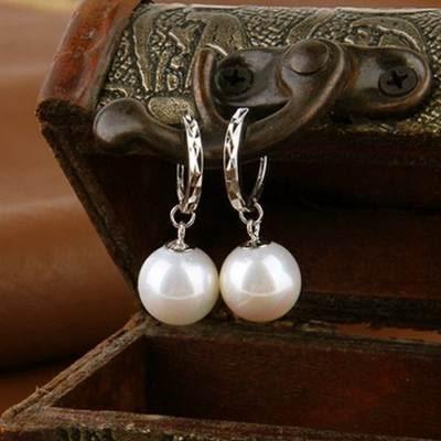 925純銀耳環 珍珠(耳針式)-簡潔設計生日情人節禮物女飾品73ao174【巴黎精品】