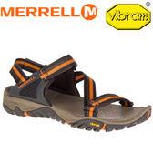 【MERRELL 美國 男款 ALL OUT BLAZE WEB〈黑/橘〉】ML37641/休閒鞋/戶外拖鞋/海灘鞋/止滑★滿額送