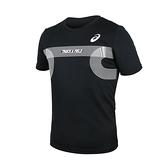 ASICS 男田徑短袖T恤(附轉印貼)(免運 亞規 吸濕排汗 上衣 亞瑟士≡體院≡ 2091A384-001