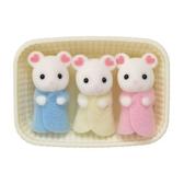 【 EPOCH 】森林家族 - 棉花糖鼠三胞胎 ╭★ JOYBUS玩具百貨