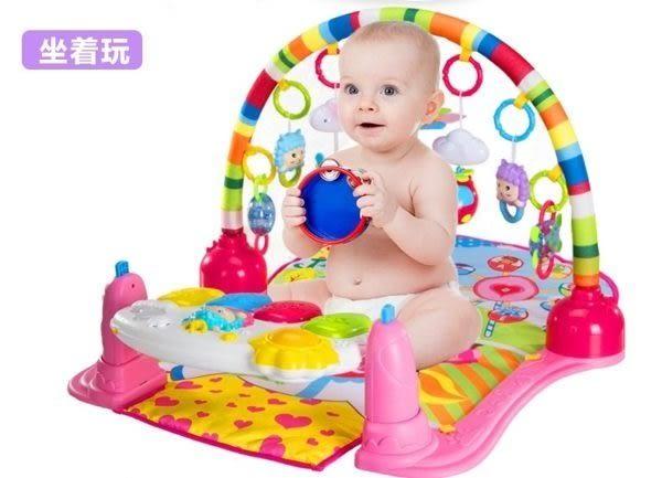 *粉粉寶貝玩具*超級新款~四合一小羊羊加厚款腳踏鋼琴健力架~多功能聲光健身架~寶寶音樂遊戲毯