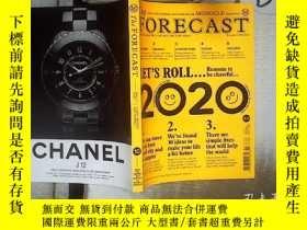 二手書博民逛書店The罕見forecast issue 10 2020 .2020年第10期預測 .Y180897