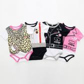 短袖包屁衣 假兩件造型兔裝 寶寶連身裝  春夏童裝 XE10423好娃娃