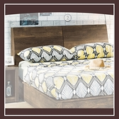 【多瓦娜】班克工業風5尺床頭箱(附插座) 21152-313002