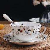 創意咖啡杯碟咖啡杯套裝歐式陶瓷杯子咖啡套具骨瓷杯碟下午茶茶杯 挪威森林