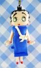 【震撼精品百貨】Betty Boop_貝蒂~手機吊飾-藍洋裝