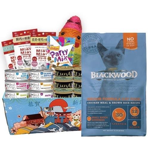 《超值套組B》*KING*柏萊富 blackwood 室內貓全齡優活配方(雞肉+米) 4磅