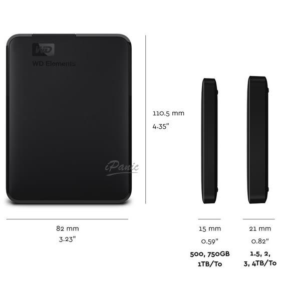 WD Elements 4TB 2.5吋 行動硬碟 隨身硬碟 外接式硬碟 原廠公司貨 原廠保固 4T