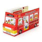 Sanrio HELLO KITTY紙膠帶&便條紙組附桌上型巴士造型收納盒★funbox★_401757