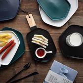 北歐風西餐盤子牛排盤點心盤菜盤家用早餐盤陶瓷餐具亞光碟子
