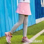 童裝 女童褲裙裝中大尺碼冬季中大童褲裙兩件套 保暖褲 js16940『Pink領袖衣社』