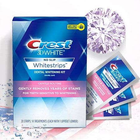 美國 Crest 3D White 溫和型亮白牙貼 (14天份) 牙齒貼片 牙貼 牙齒 模特兒 網美 推薦