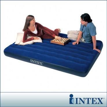 【INTEX】雙人加大植絨充氣床墊-寬152cm(68759)
