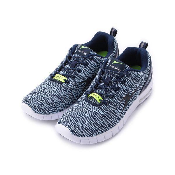 ARNOR 飛織氣墊慢跑鞋 藍 ARMR83246 男鞋 鞋全家福