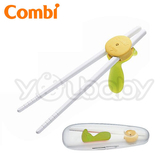 康貝Combi Baby Label優質學習筷子組-綠色