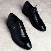 青年西裝皮鞋男天英倫韓版學生黑色商務正裝結婚男鞋上班   遇見生活