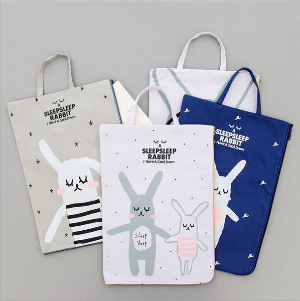 [拉拉百貨]兔子 A4 文件袋 可手提 資料袋 文具 禮品