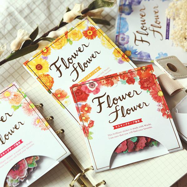 【BlueCat】花卉植物金箔花朵燙金裝飾貼紙 手帳貼紙