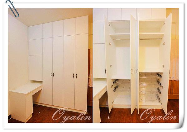 【歐雅系統家具】衣櫃&化妝台結合書桌