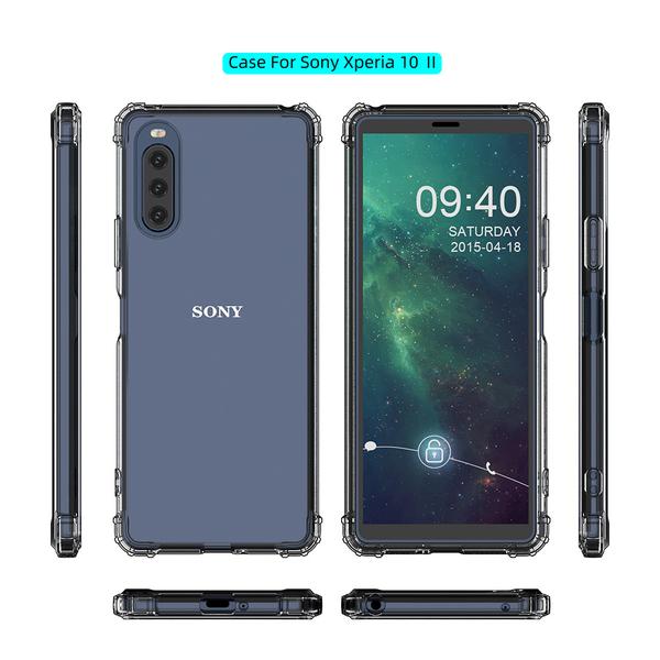 索尼Sony Xperia 10 II 五倍軍事防摔TPU手機保護套軟殼 Xperia 1 II