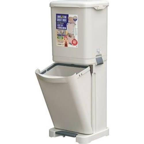 直立式分類垃圾桶 免運費 聯府 KEYWAY 四分類環保垃圾桶 資源分類回收桶 垃圾筒 PW40 [百貨通]
