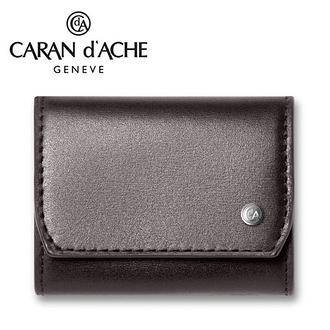 CARAN d'ACHE 瑞士卡達 CdA小牛皮零錢包. 黑檀 / 個
