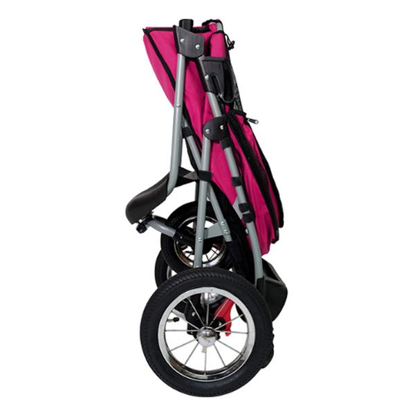 [寵樂子]《IBIYAYA 依比呀呀》充氣胎冠軍子彈推車FS801-BP(莓紫黑) / 寵物推車