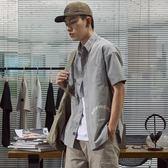 夏季時尚印花短袖襯衫男青年學生正韓寬松休閑港風襯衣潮 炫科技